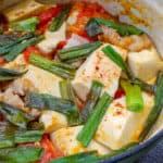 Tofu and pork belly in tomato sauce đậu hũ sốt cà chua)