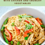 Sesame Noodles with Chicken and Crunchy Vegetables
