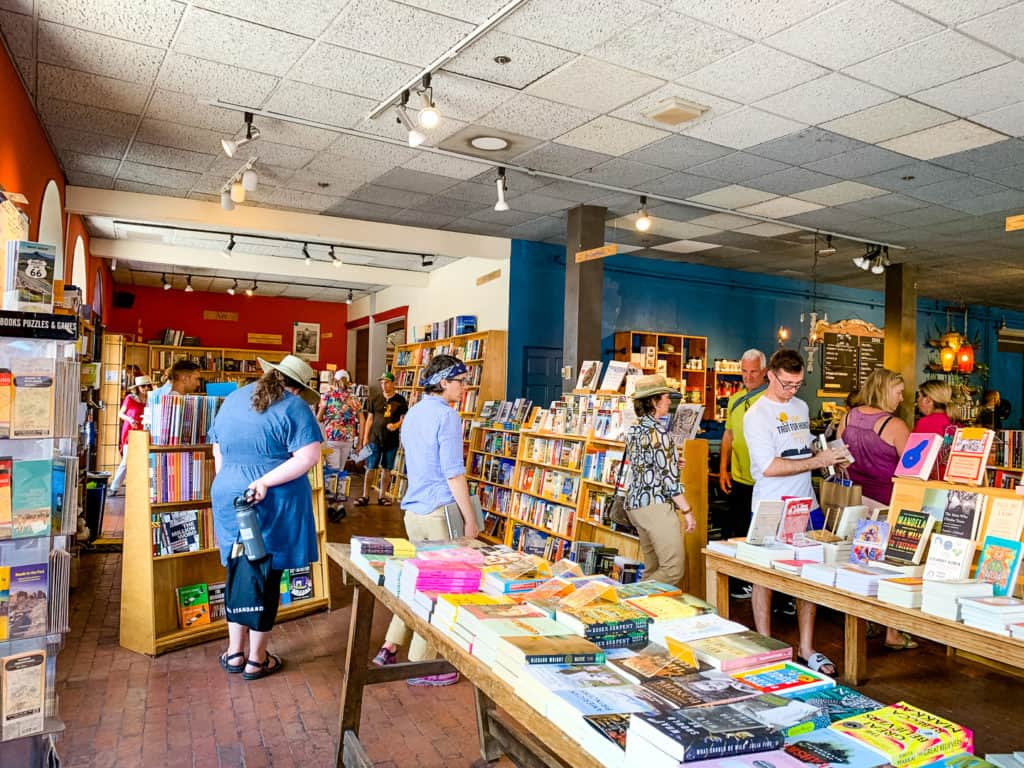 Inside of Collected Works Bookstore and Cafe in Santa Fe