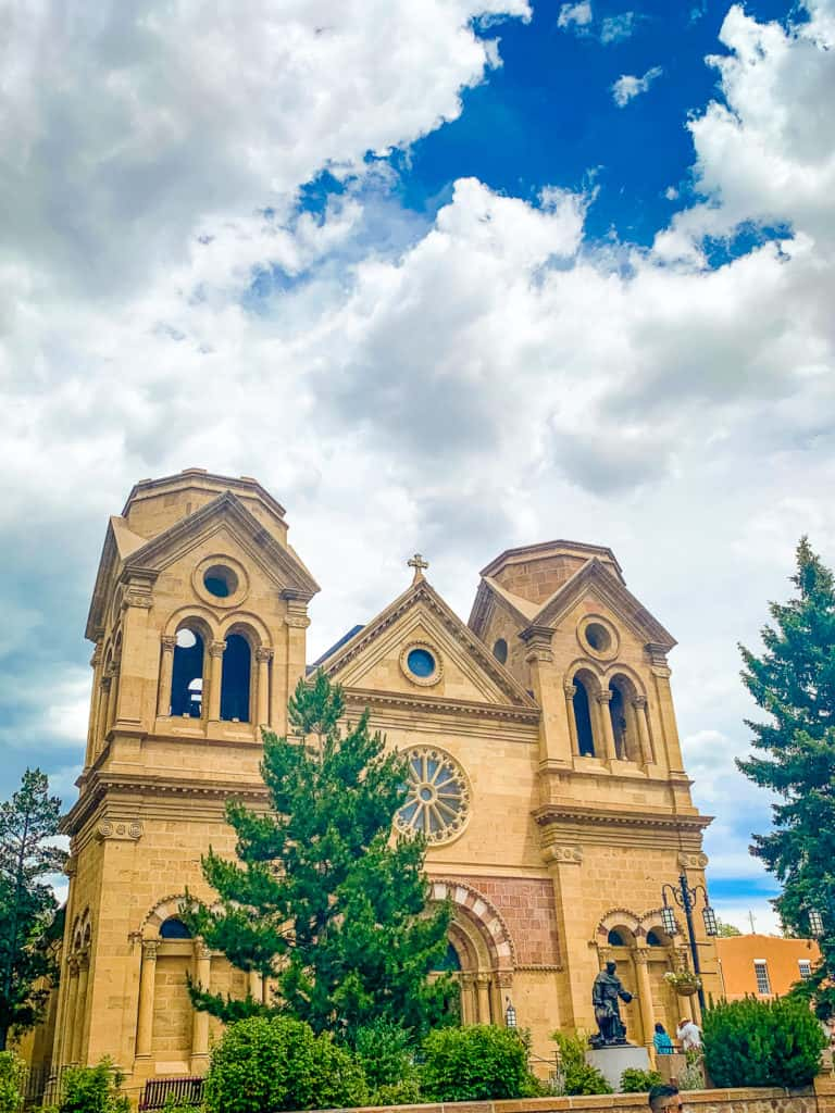 St. Francis of Assisi Basilica building in Santa Fe, New Mexico
