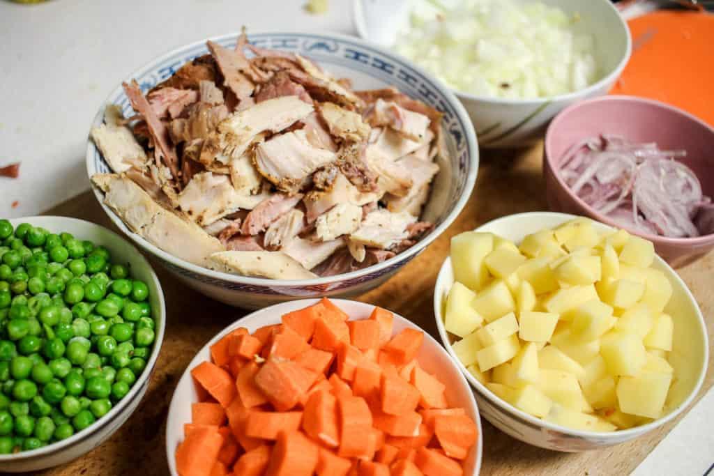 Ingredients for Turkey Tarragon Pot Pie
