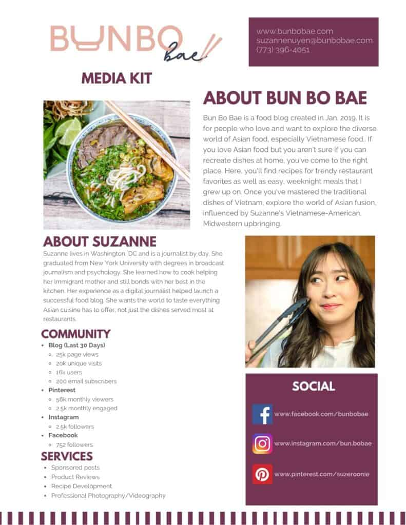 A copy of suzanne's most updated media kit